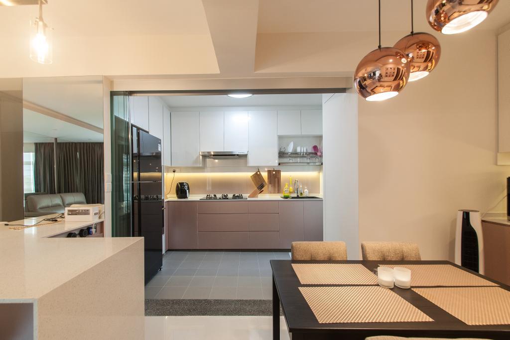 Modern, HDB, Kitchen, Compassvale Crescent, Interior Designer, Space Atelier