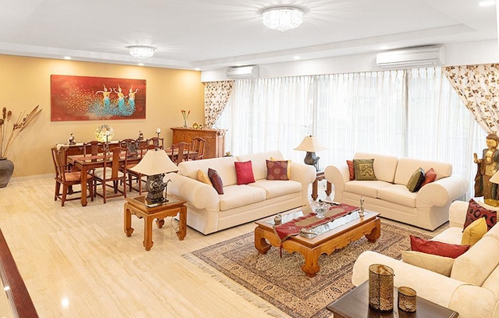Contemporary, Condo, Living Room, Wing on Life Garden, Interior Designer, Livspace
