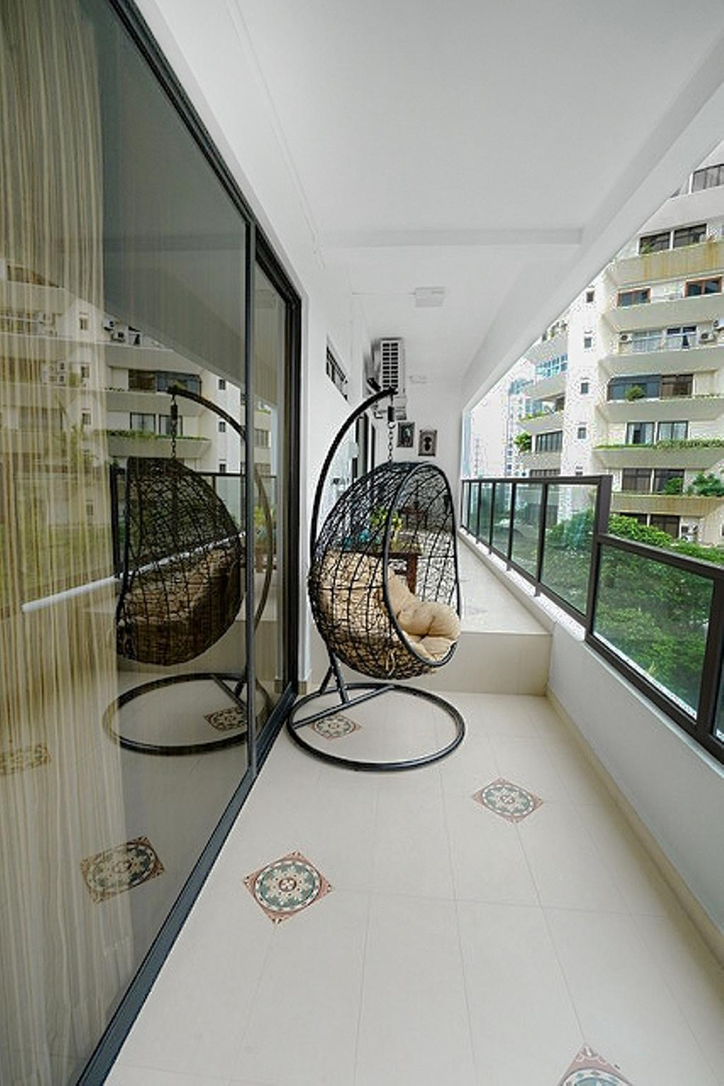 Contemporary, Condo, Balcony, Wing on Life Garden, Interior Designer, Livspace