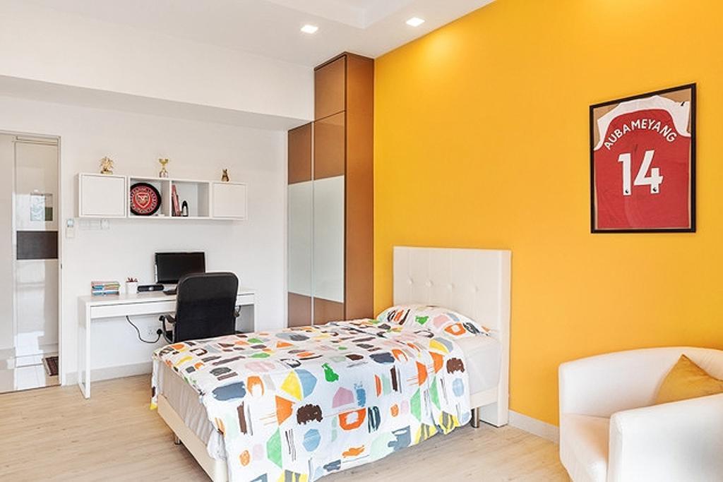 Contemporary, Condo, Bedroom, Wing on Life Garden, Interior Designer, Livspace