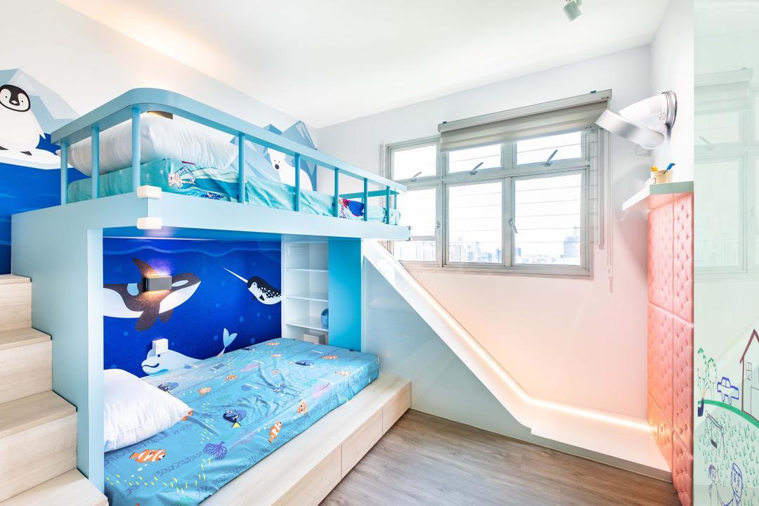 Henderson Road, DSOD Interior, Contemporary, Bedroom, HDB, Slide, Kids Room, Kids Room