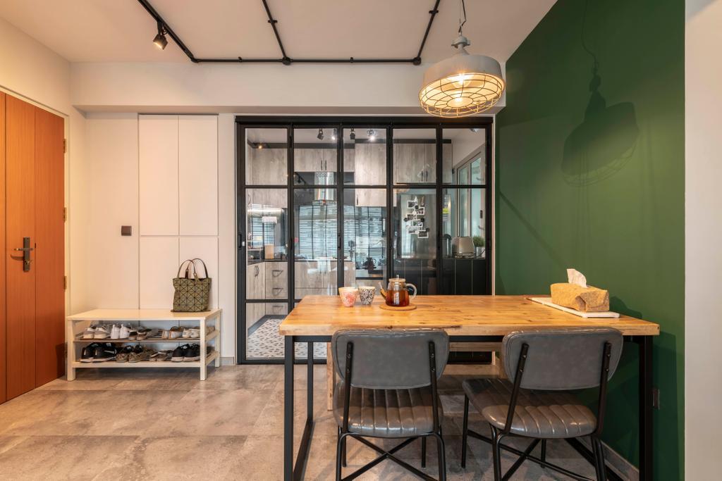 Contemporary, HDB, Dining Room, Tampines Street 45, Interior Designer, Voila