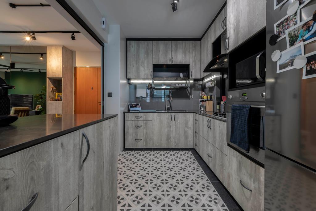 Contemporary, HDB, Kitchen, Tampines Street 45, Interior Designer, Voila