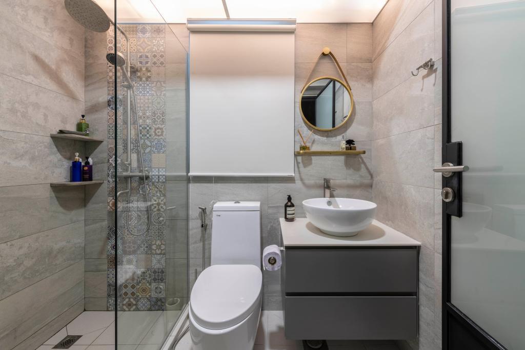 Contemporary, HDB, Bathroom, Tampines Street 45, Interior Designer, Voila