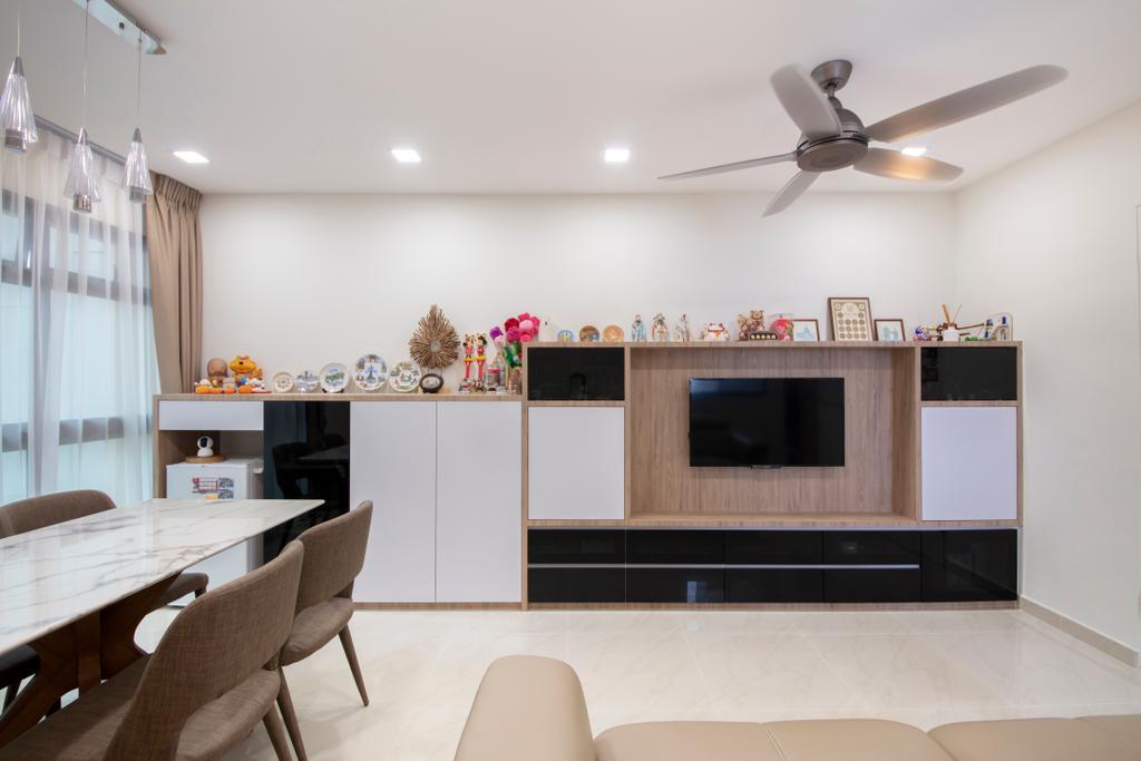 Contemporary, HDB, Living Room, Bedok North Road, Interior Designer, Starry Homestead