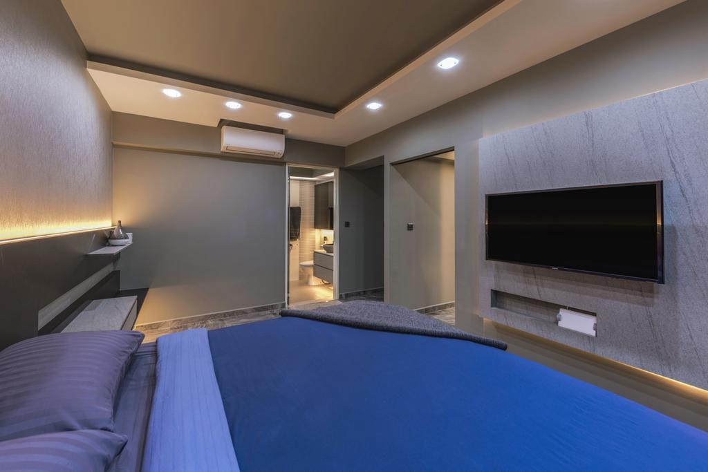 Contemporary, HDB, Bedroom, Yung Kuang Road, Interior Designer, Inclover Design