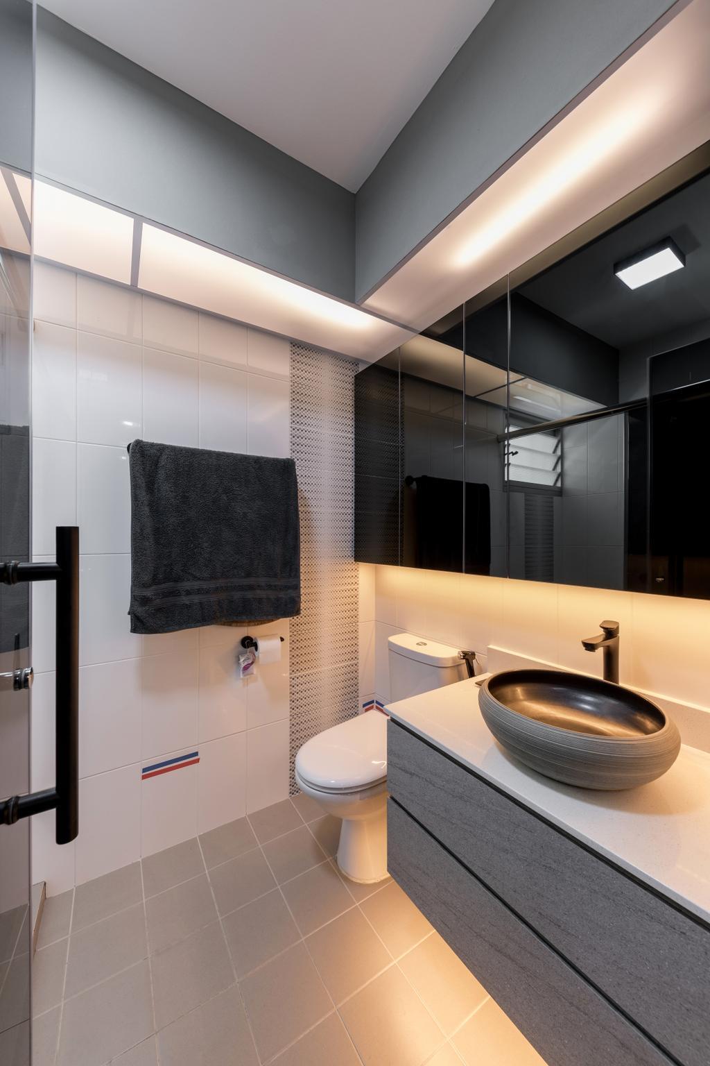 Contemporary, HDB, Bathroom, Yung Kuang Road, Interior Designer, Inclover Design