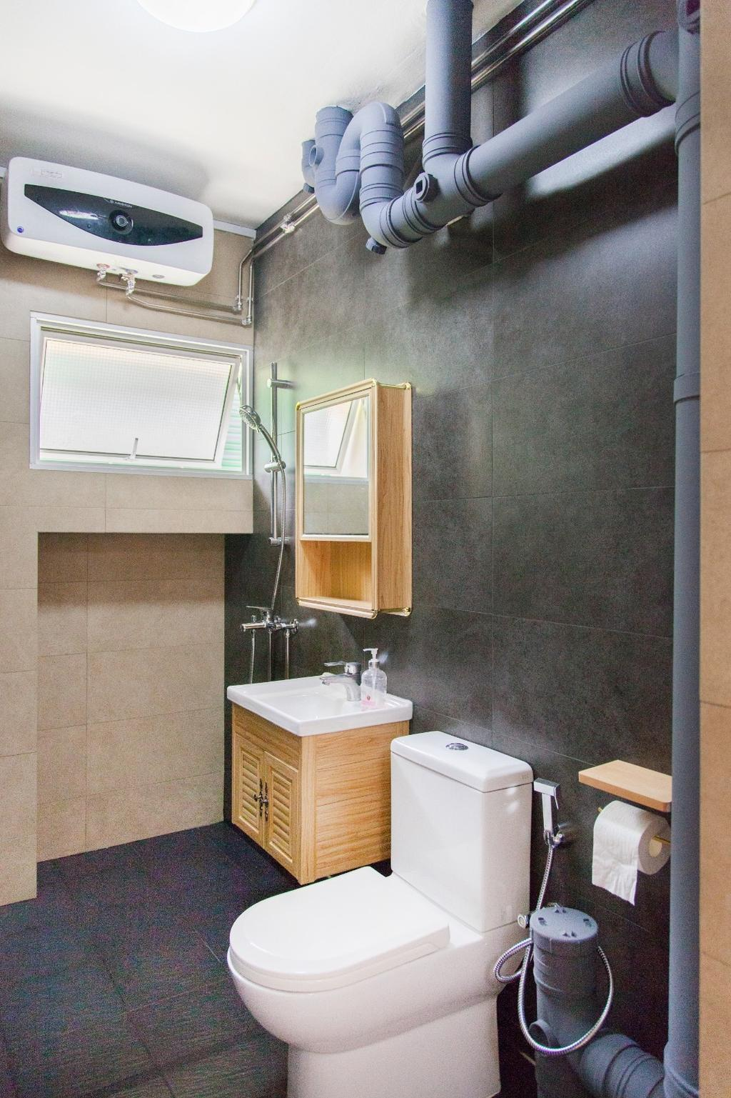 Minimalist, HDB, Bathroom, Tampines (Block 349), Interior Designer, Mink Design