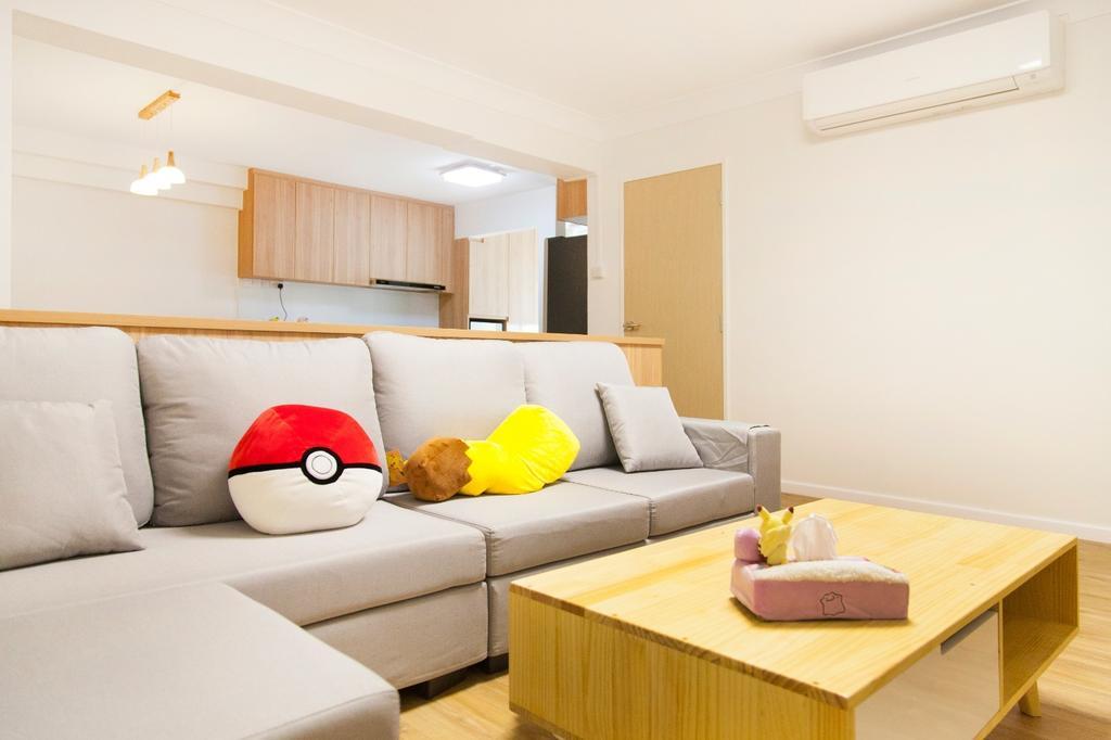 Minimalist, HDB, Living Room, Tampines (Block 349), Interior Designer, Mink Design