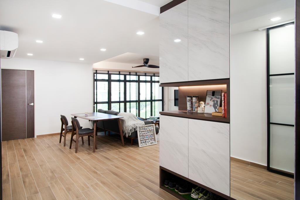 Modern, HDB, Living Room, Compassvale Drive (Block 257C), Interior Designer, Mink Design