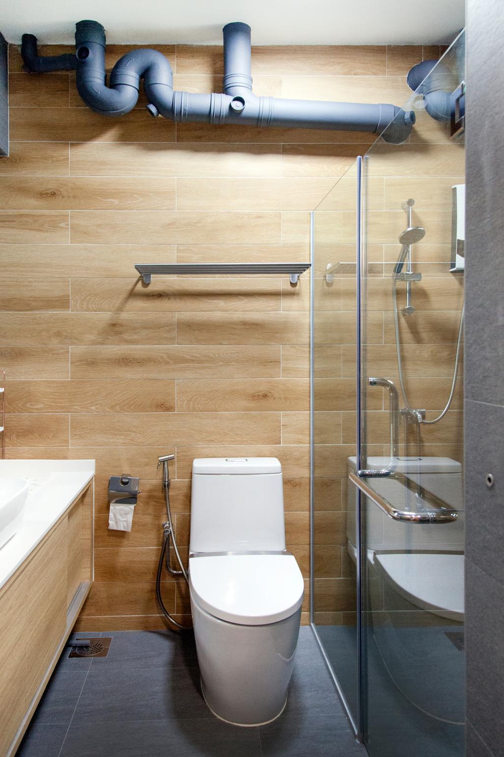 Modern, HDB, Bathroom, Compassvale Drive (Block 257C), Interior Designer, Mink Design