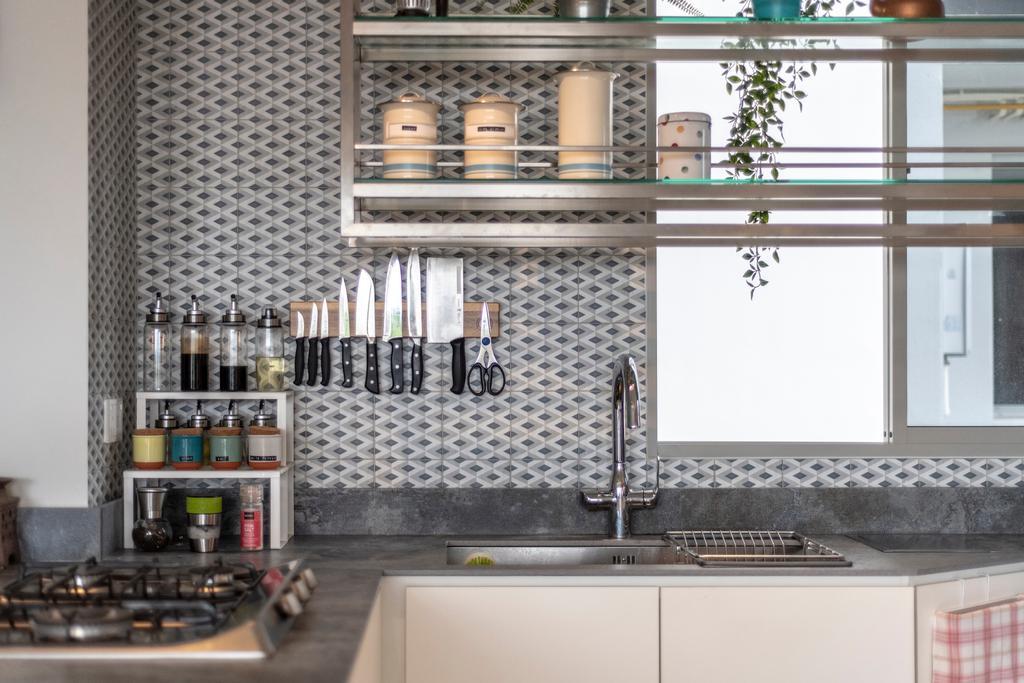 Modern, Condo, Kitchen, Sea Esta, Interior Designer, erstudio, Scandinavian