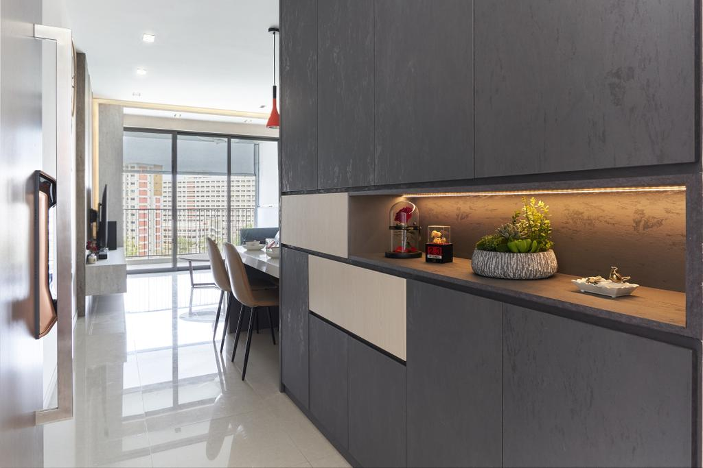 Contemporary, Condo, Living Room, Vue 8 Residences, Interior Designer, Noble Interior Design