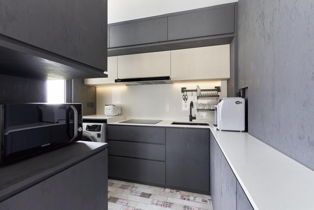 Contemporary, Condo, Kitchen, Vue 8 Residences, Interior Designer, Noble Interior Design