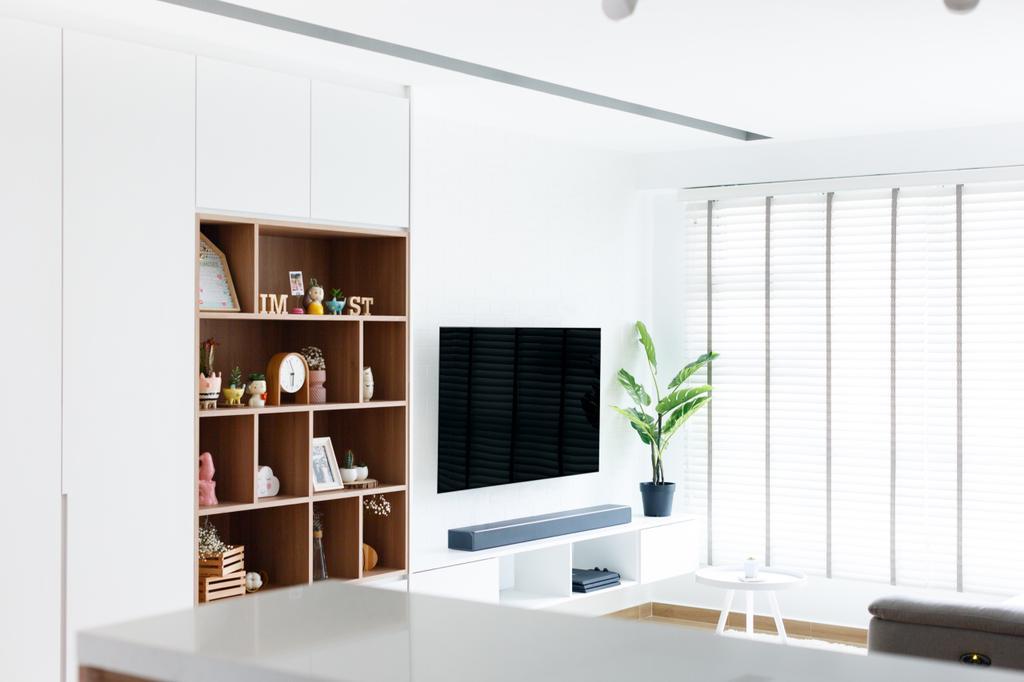 Minimalistic, HDB, Living Room, Telok Blangah Street 31, Interior Designer, The Local INN.terior 新家室, Contemporary