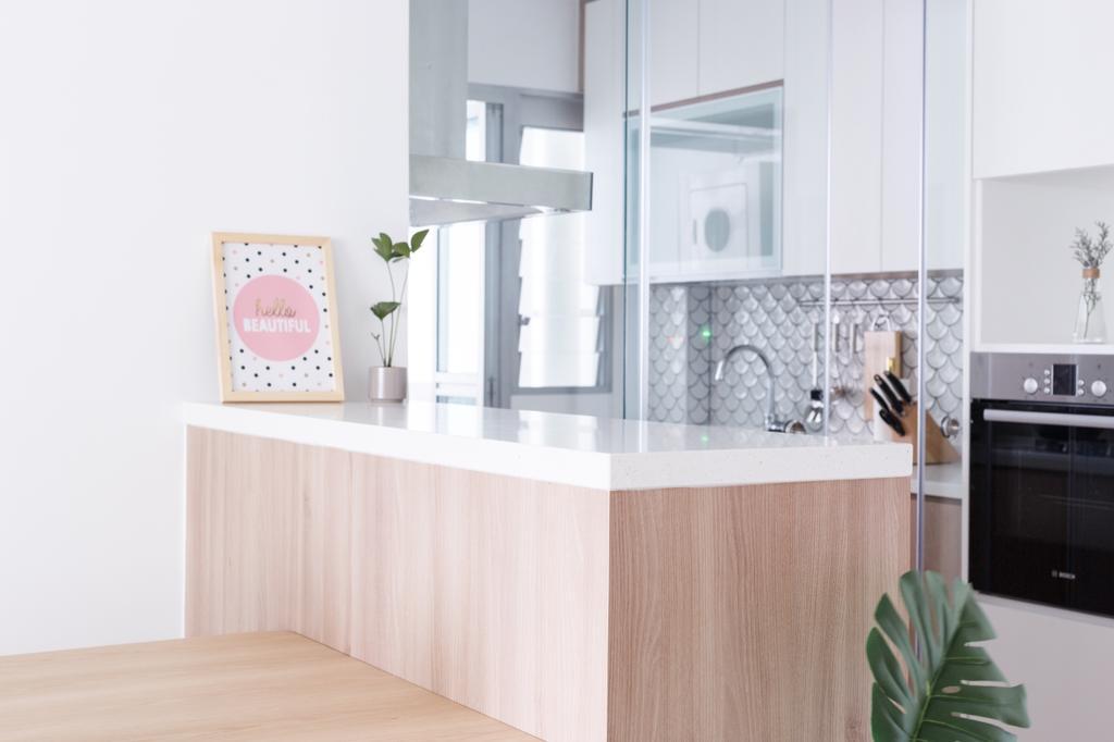 Minimalistic, HDB, Kitchen, Telok Blangah Street 31, Interior Designer, The Local INN.terior 新家室, Contemporary