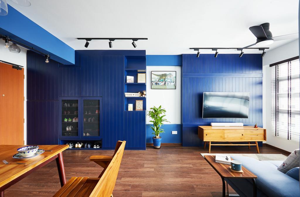 Contemporary, HDB, Living Room, Telok Blangah, Interior Designer, The Local INN.terior 新家室, Eclectic