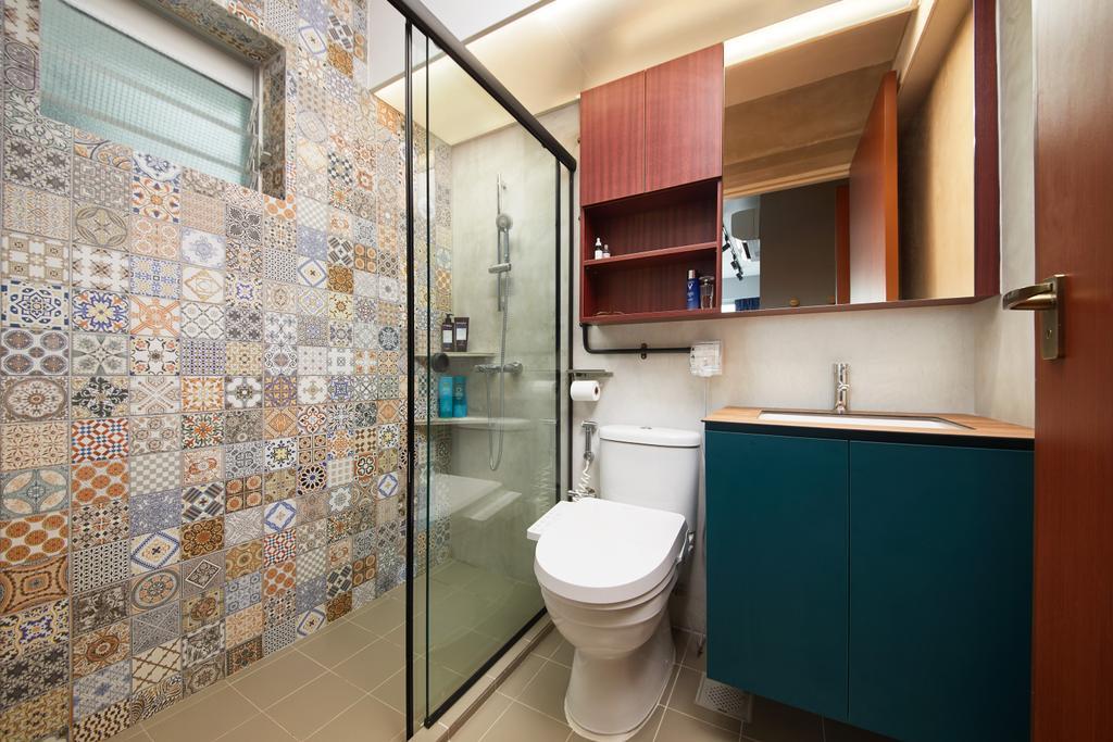 Contemporary, HDB, Bathroom, Telok Blangah, Interior Designer, The Local INN.terior 新家室, Eclectic