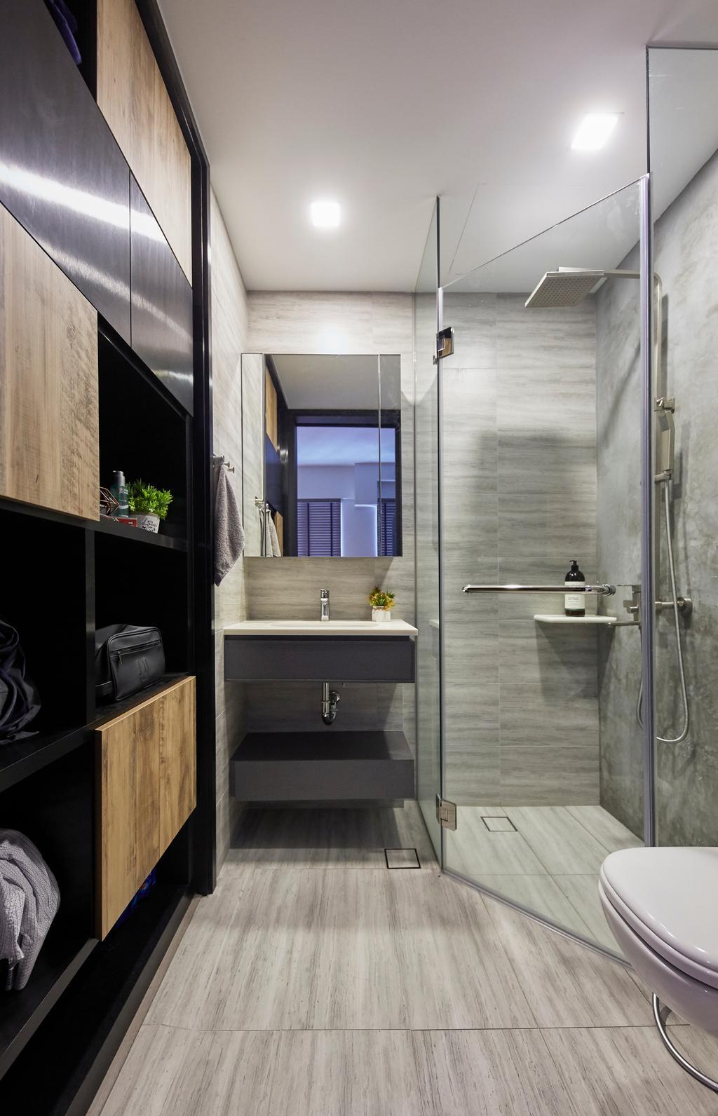Modern, Condo, Bathroom, Triville, Interior Designer, i-Chapter