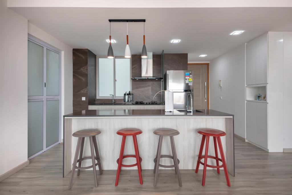 Modern, Condo, Kitchen, The Metropolitan, Interior Designer, Aart Boxx Interior, Scandinavian, Kitchen Island, Kitchen Countertop, Open Kitchen, Open Concept