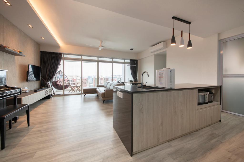 Modern, Condo, Living Room, The Metropolitan, Interior Designer, Aart Boxx Interior, Scandinavian, Kitchen Island