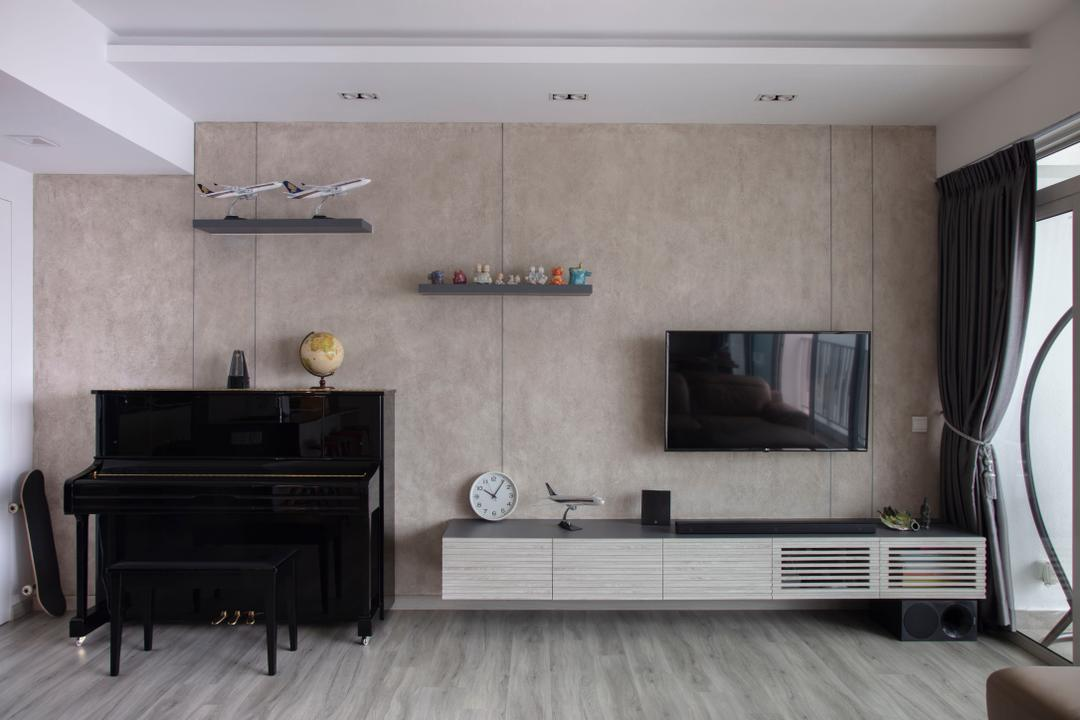 The Metropolitan, Aart Boxx Interior, Modern, Scandinavian, Living Room, Condo, Feature Wall, Tv Wall