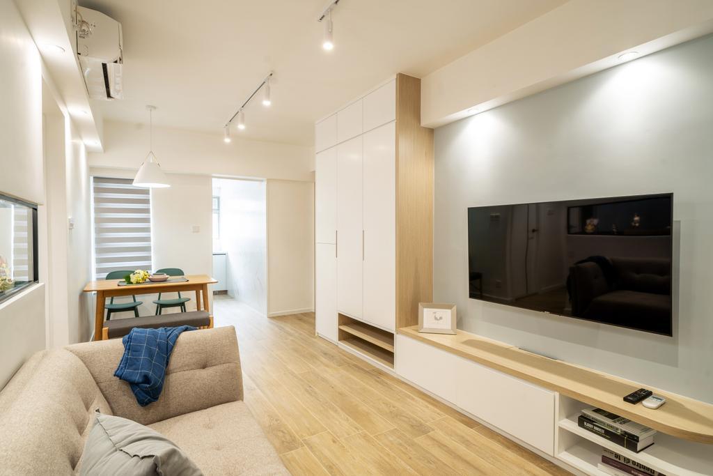 簡約, 私家樓, 客廳, 尚南天, 室內設計師, The NEST, 北歐
