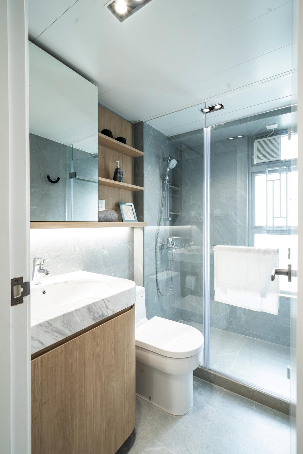 簡約, 私家樓, 浴室, 尚南天, 室內設計師, The NEST, 北歐