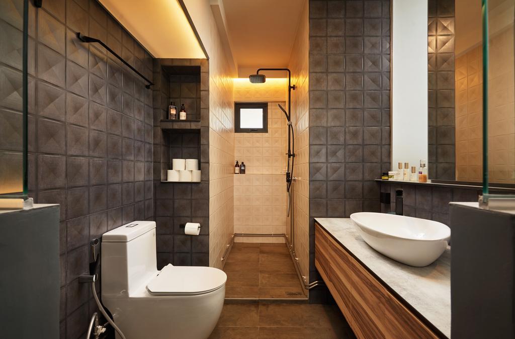 Contemporary, HDB, Bathroom, Serangoon, Interior Designer, Black N White Haus