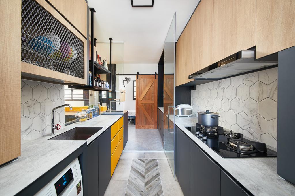 Contemporary, HDB, Kitchen, Serangoon, Interior Designer, Black N White Haus