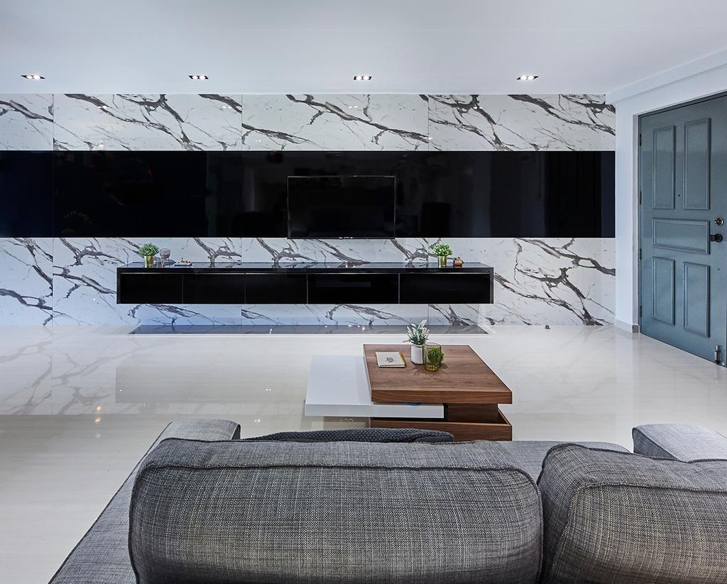 Modern, HDB, Living Room, Canberra Road (Block 304), Interior Designer, The Interior Lab