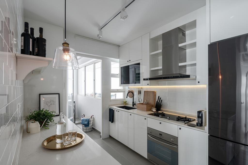 Contemporary, HDB, Kitchen, Punggol Field, Interior Designer, Stylemyspace