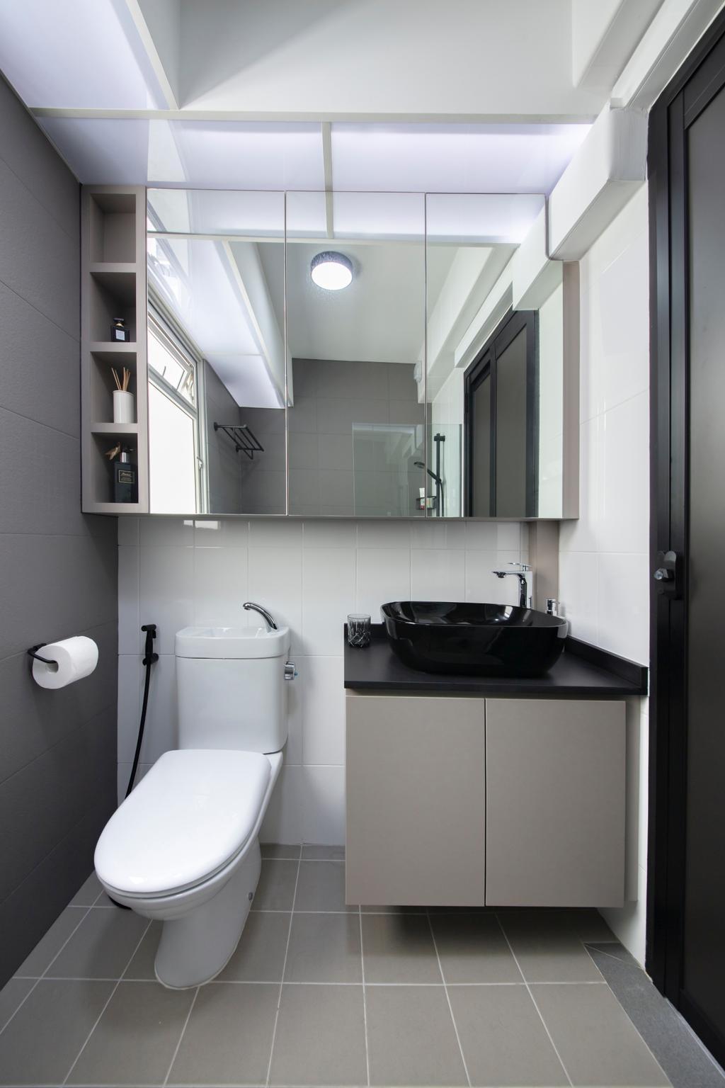 Contemporary, HDB, Bathroom, Sumang Walk, Interior Designer, Starry Homestead