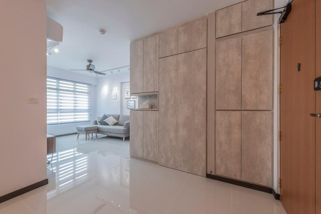 Minimalistic, HDB, Living Room, St. George's Lane, Interior Designer, Ideal Haus