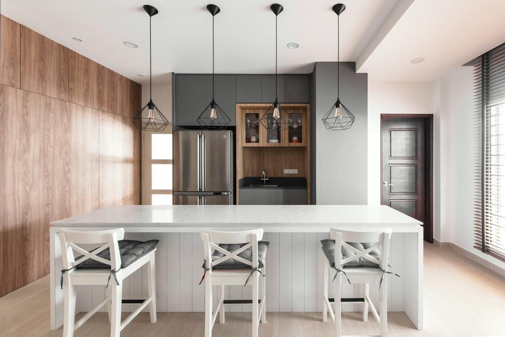 Modern, Landed, Dining Room, Ara Vista, Ara Damansara, Interior Designer, Pocket Square