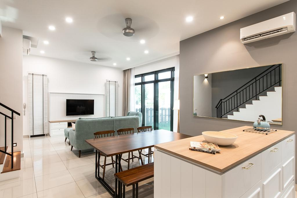 Modern, Landed, Dining Room, Eco Majestic, Semenyih, Interior Designer, Pocket Square, Contemporary