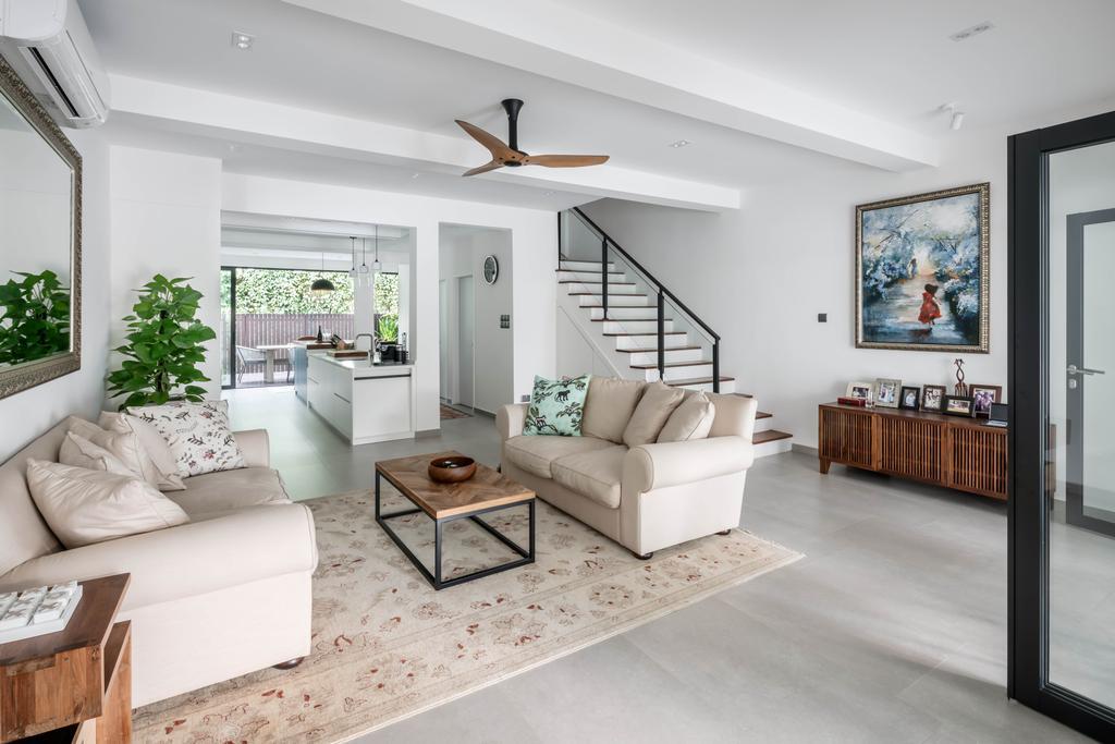 Contemporary, Landed, Living Room, Jalan Bangsawan, Interior Designer, Weiken.com, Minimalistic
