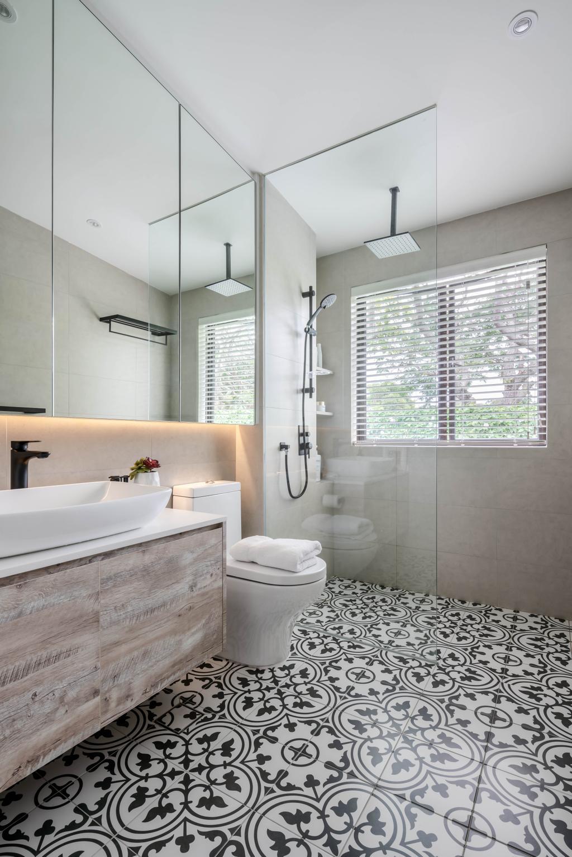 Contemporary, Landed, Bathroom, Jalan Bangsawan, Interior Designer, Weiken.com, Minimalistic