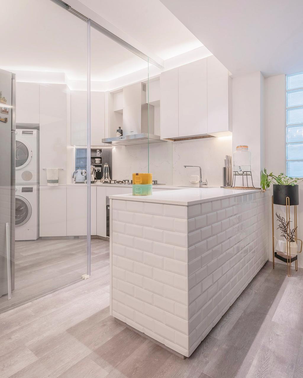 Contemporary, HDB, Kitchen, Bedok North, Interior Designer, erstudio