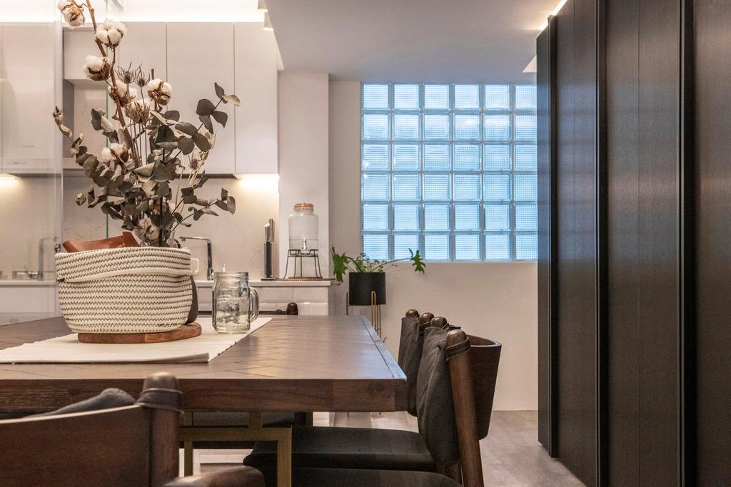 Contemporary, HDB, Dining Room, Bedok North, Interior Designer, erstudio
