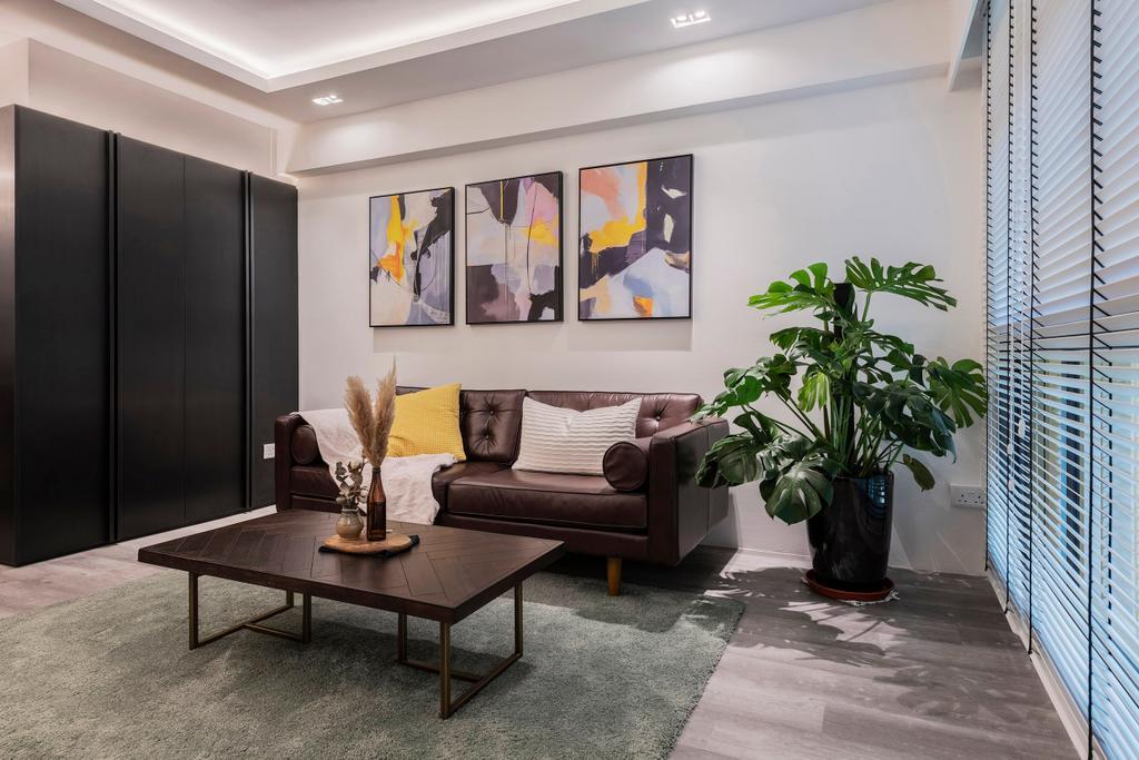 Contemporary, HDB, Living Room, Bedok North, Interior Designer, erstudio