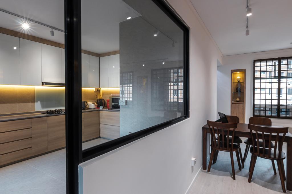 Contemporary, HDB, Kitchen, Tampines Street 24, Interior Designer, 9 Creation, Modern