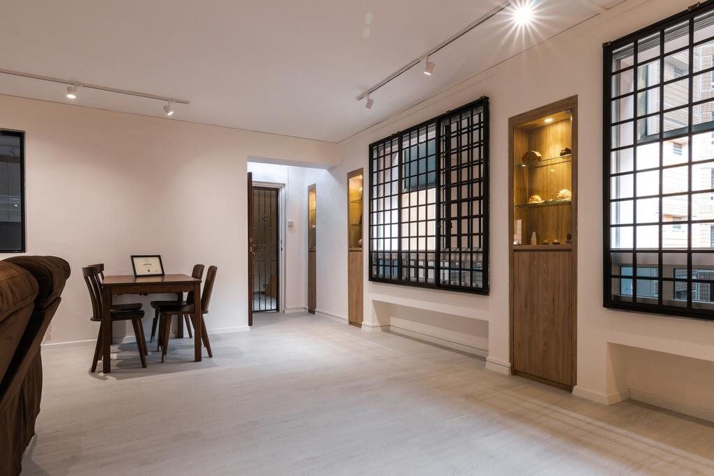 Contemporary, HDB, Living Room, Tampines Street 24, Interior Designer, 9 Creation, Modern