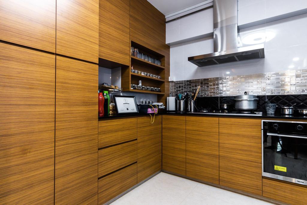 Contemporary, HDB, Kitchen, Tampines Street 71, Interior Designer, 9 Creation