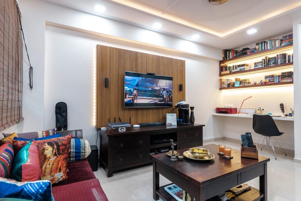 Contemporary, HDB, Living Room, Tampines Street 71, Interior Designer, 9 Creation