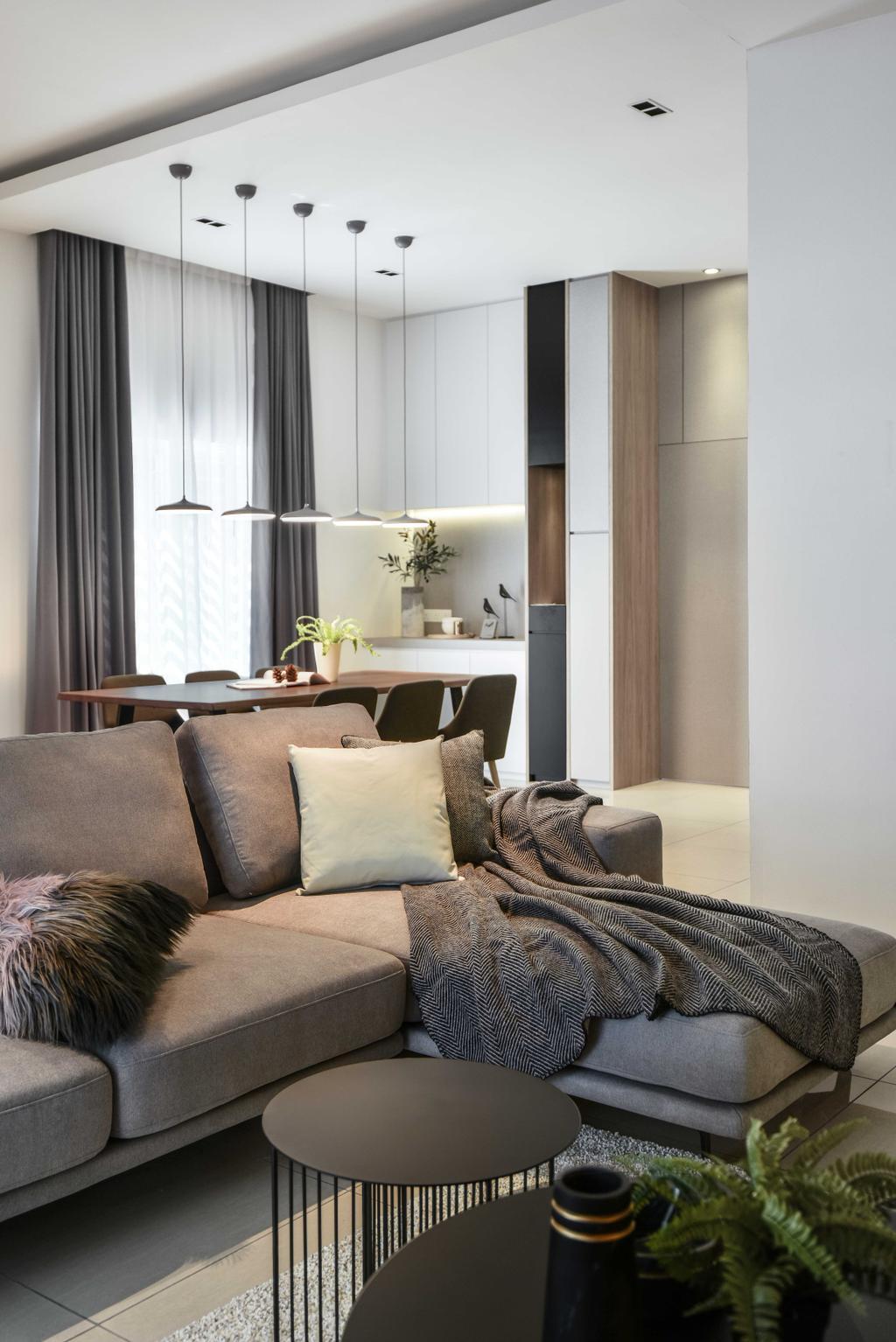 Modern, Landed, Living Room, Victoria Cottage, Perak, Interior Designer, PINS Studio, Contemporary