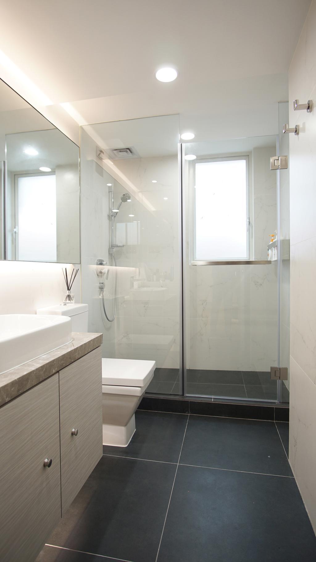 北歐, 獨立屋, 浴室, 比華利山別墅, 室內設計師, AQUA Projects