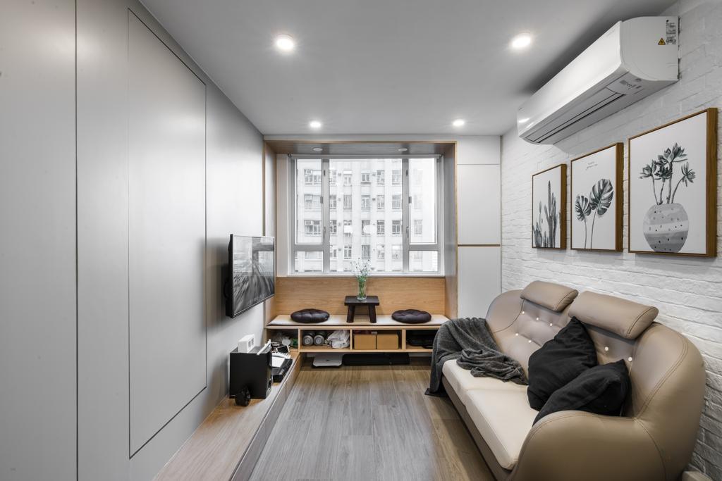 公屋/居屋, 客廳, 龍蟠苑, 室內設計師, monoo interior Limited