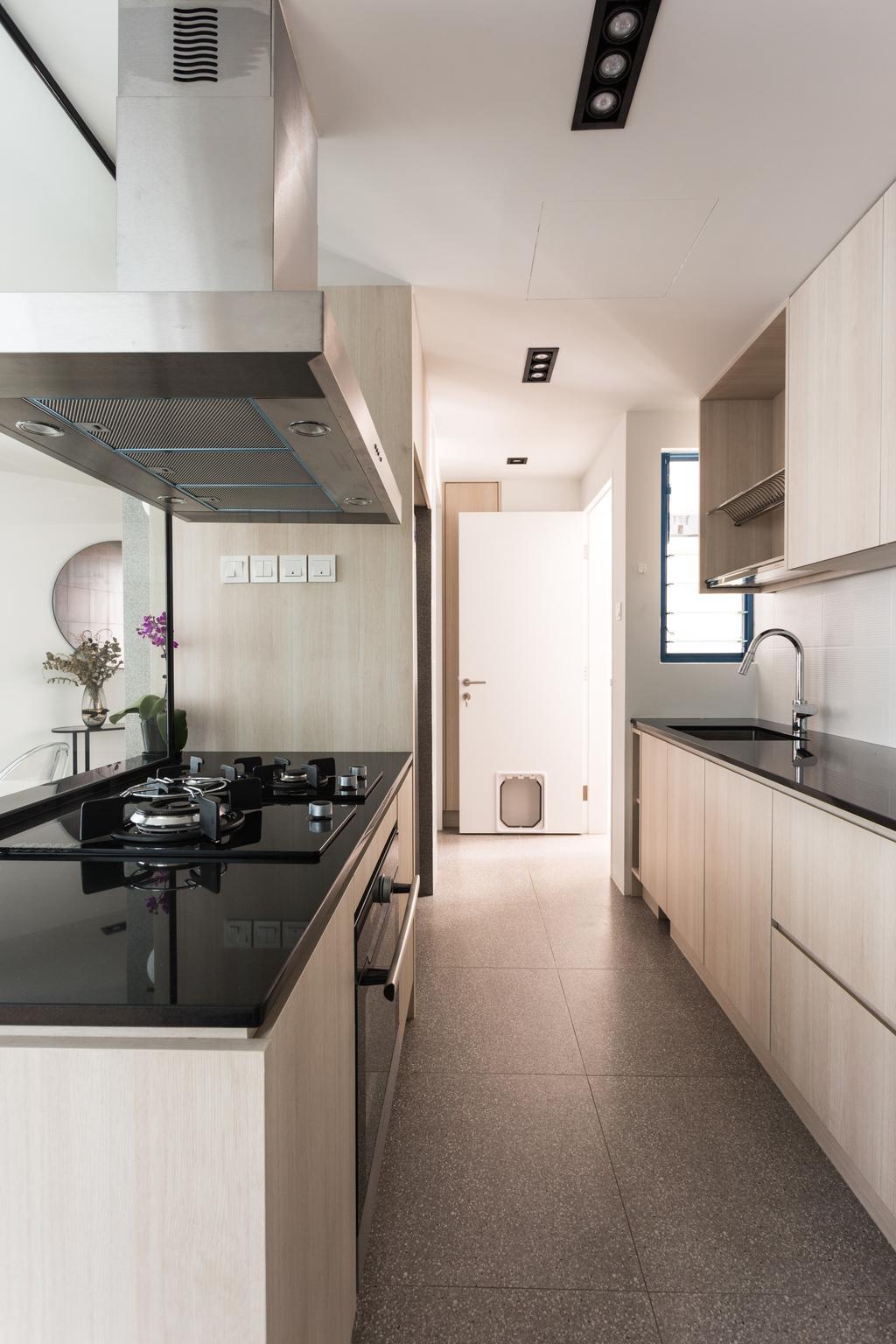 Contemporary, Condo, Kitchen, Water Place, Interior Designer, Habit