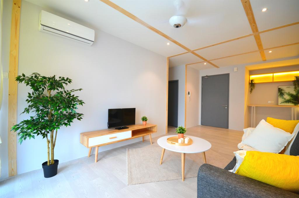 Contemporary, Apartment, Living Room, Lakefront Residence, Cyberjaya, Interior Designer, Anwill Design Sdn Bhd, Minimalistic